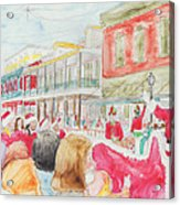 Natchitoches Christmas Parade Acrylic Print by Ellen Howell