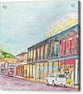 Natchitoches Front Street Acrylic Print by Ellen Howell