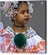 National Costume Of Panama Acrylic Print