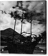 National Famine Memorial The Skeleton Ship By John Behan Acrylic Print