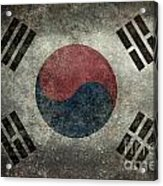 National Flag Of South Korea Desaturated Vintage Version Acrylic Print