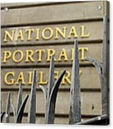 National Portrait Gallery Acrylic Print