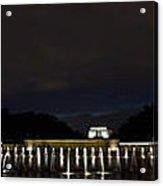 National World War II Memorial After Dark Acrylic Print