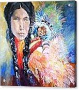 Native American And Child Acrylic Print