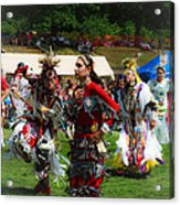Native American Dancers Acrylic Print