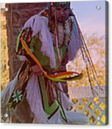 Native American Grass Stomping Dance 20 Acrylic Print