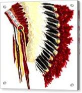 Native American Headdress Acrylic Print