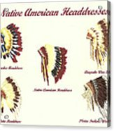 Native American Headdresses Number 4 Acrylic Print