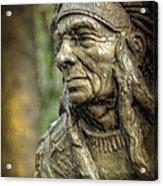 Native American Statue At Niagara Falls State Park Acrylic Print