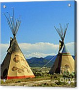 Native American Teepees  Acrylic Print