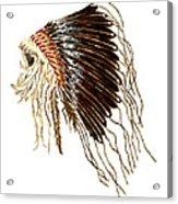 Native American War Bonnet - Plains Indians Acrylic Print