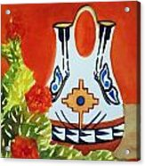Native American Wedding Vase And Cactus-square Format Acrylic Print