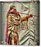 Native American With Blowgun Acrylic Print