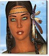 Native American Woman Acrylic Print by Design Windmill