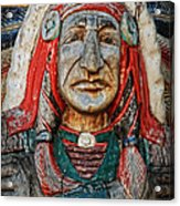 Native American Wood Carving Acrylic Print