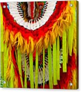 Native American Yellow Feathers Ceremonial Piece Acrylic Print