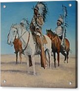 Native Americans On Horseback Acrylic Print