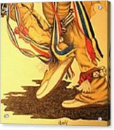 Native Dancer's Feet 1 Acrylic Print