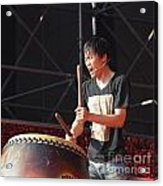 Native Drummer Performs In Taiwan Acrylic Print