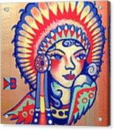 Native Girl Acrylic Print