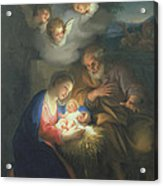 Nativity Scene Acrylic Print by Anton Raphael Mengs