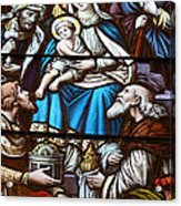 Nativity Stained Glass Acrylic Print