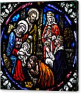 Nativity With Kings Acrylic Print