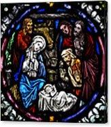 Nativity With Shepherds Acrylic Print