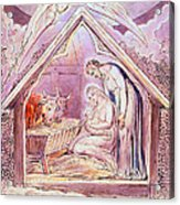 Nativity With Two Angels Acrylic Print