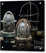 Natuical - Vintage Ship Deck Lights Acrylic Print