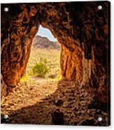Natural Cave Above The Valley Of Fire Acrylic Print