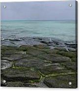 Natural Forming Pentagon Rock Formations Of Kumejima Okinawa Japan Acrylic Print