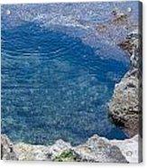 Natural Pool Of Seawater Acrylic Print