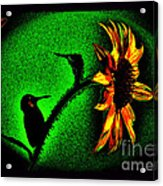 Nature Went On Although The Moon Turned Green Acrylic Print