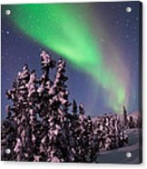 Nature's Canvas In The Northern Sky Acrylic Print by Mike Berenson