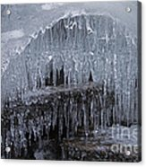 Natures Frozen Cathedral Sculpture Acrylic Print
