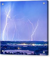 Natures Light Show Over The Boulder Reservoir  Acrylic Print by James BO  Insogna