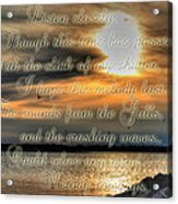 Natures Melody With Text Acrylic Print