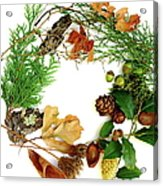 Nature's Natural Green Wreath Acrylic Print