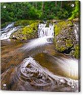 Nature's Water Slide Tilt Shift Acrylic Print