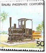 Nauru Island Stamp Acrylic Print