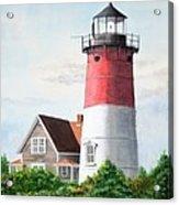 Nauset Beach Memories Watercolor Painting Acrylic Print by Michelle Wiarda