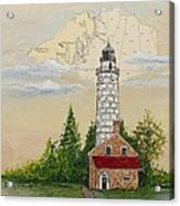 Nautical Chart Cana Island Lighthouse Acrylic Print