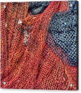 Nautical Nets Acrylic Print by Heidi Smith