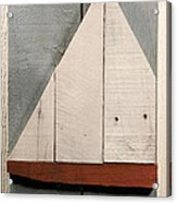 Nautical Wood Art 01 Acrylic Print by John Turek