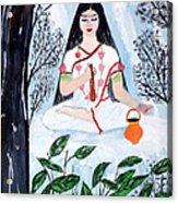 Nava Durga Brahmacharini Acrylic Print by Pratyasha Nithin