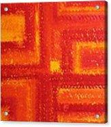 Navajo Rug Original Painting Acrylic Print