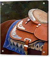 Navajo Silver And Basketweave Acrylic Print