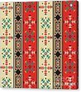 Navajo Style Pattern Acrylic Print