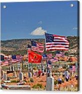 Navajo Veteran's Memorial Cemetery Tsehootsooi Acrylic Print